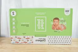 100 Count Pack Hello Bello Disposable Baby Diapers, Size 2,