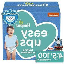 100 Pampers Easy ups 4t-5t Boys Training Underwear Enormous