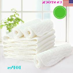 10PCS Reusable Baby Modern Cloth Diaper Nappy Liners insert