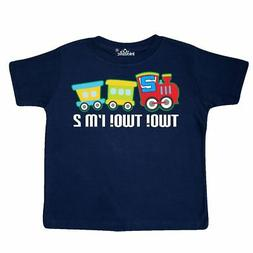 Inktastic 2nd Birthday Two Two Train Outfit Toddler T-Shirt