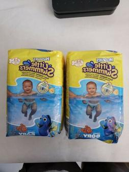 2PK Huggies Little Swimmers Disposable Swim Diapers, X-Small