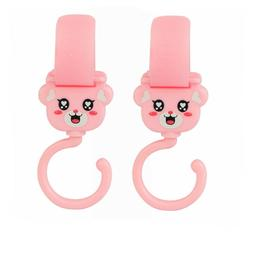 2x Pink Clip Hooks for Delta Baby Child Strollers Hang Shopp