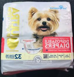 Paw Inspired 32ct Ultra Protection Disposable Dog Diapers Fe