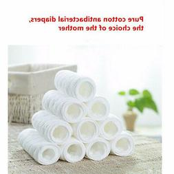 5Pcs Reusable baby Diapers Cloth Diaper Inserts 100% Cotton