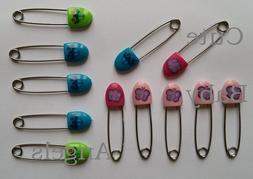 6 Pack Large Nappy Pins Terry Nappies Safety Pin Baby Diaper