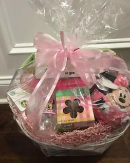 Disney Minnie Mouse Baby Gift Basket New Born Basket