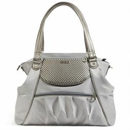 Skip Hop Studio Select Day-to-Night Diaper Satchel, Pewter
