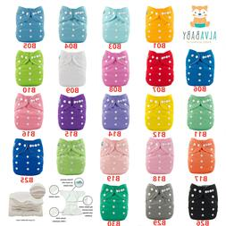 ALVA Baby Cloth Diapers Reusable Washable Pocket Nappies Wit