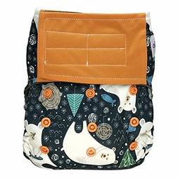 EcoAble Baby All-in-One AIO Cloth Diaper & Charcoal Bamboo I