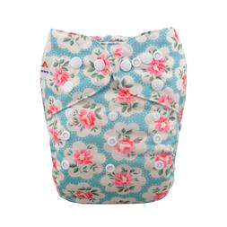 ALVABABY Cloth Diaper One Size Girl Washable Reusable Pocket