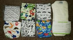 baby cloth diapers 6 pair w inserts