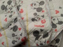 baby diaper lot mickey mouse face red