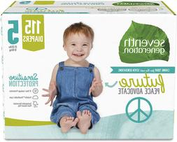Baby Diapers for Sensitive Skin, Size 5, 115 count