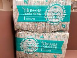 Seventh Generation Baby Diapers size 1. 2pks of 40. Free shi