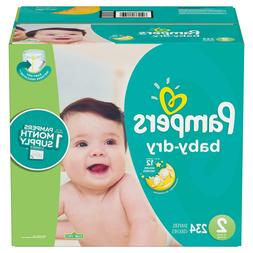 Pampers Baby Dry Diapers Size 2 - 222 ct. for babies weigh 1