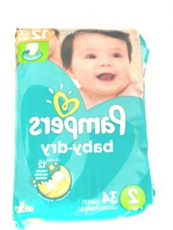Pampers Baby Dry Diapers Size 2, Convenience Pack, 4 package