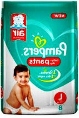 Pampers Baby Dry Pants Large -8 pcs count.
