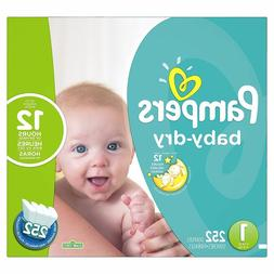 Pampers Baby Dry Size 1 Diapers - 252 Count One Month Supply