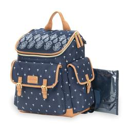 Baby Go Bandana Backpack Diaper Bag in Blue Includes coordin