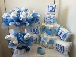 Baby Shower Diaper Cake Centerpiece Table Decoration Gift Se