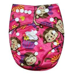 See Diapers Bamboo Charcoal One Size Baby Cloth Diaper 2 Ins