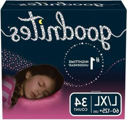 Goodnites Bedwetting Underwear For Girls, Large/X-Large , 34