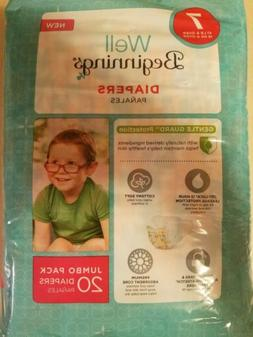 Well Beginnings Boys Diapers Size 7/ 41 LBS And Over 20 CT