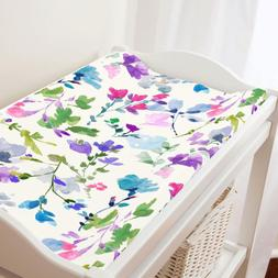 Carousel Designs Bright Wildflower Changing Pad Cover - Orga