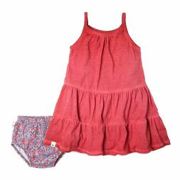 Burt's Bees Baby Organic Tiered Dress and Diaper Cover Set