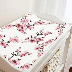 Carousel Designs Pink Cherry Blossom Changing Pad Cover - Or