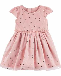 Carters Star Tulle Holiday Party Dress Diaper Cover Set 24 M