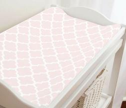 Carousel Designs Changing Pad Cover in Blush Pink