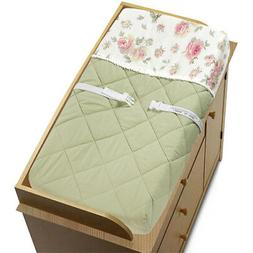 Sweet Jojo Designs Changing Table Pad Cover for Riley Roses