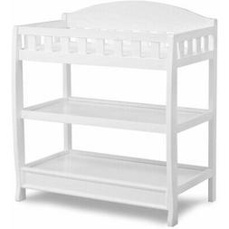 Changing Table W/ Pad Child Baby Infant Diaper Nursery Furni