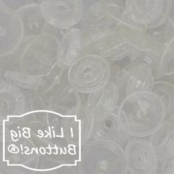 CLEAR KAM Snaps Plastic Resin Snap Crafts Baby Cloth Diapers