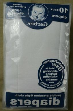 Gerber Cloth Diapers Premium 6 PLY with Absorbent Padding 10
