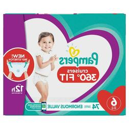 Pampers Cruisers 360 Disposable Diapers Size 6  *Free 2 day