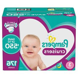 Pampers Cruisers Diapers Size 3 - 176 Ct. for Babies weigh 1