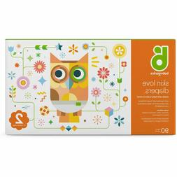 Babyganics Diapers, Club Pack Size 2 fits 12-18 pounds, 90 C