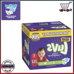 Diapers size 1 Luvs Ultra Leakguards Disposable 252 count Ba