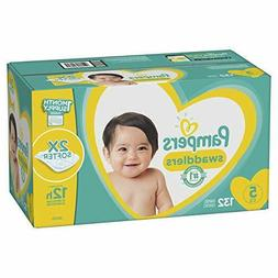 Diapers Size 5, 132 Count - Pampers Swaddlers Disposable Bab