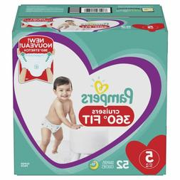 Diapers Size 5, 52 Count - Pampers Pull On Cruisers 360? Fit