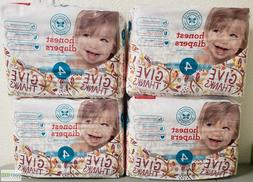 Honest Disposable Diapers Size 4 - 22-37 lbs 4 pack
