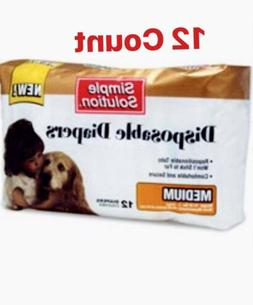 Simple Solution Dog Disposable Diapers - Medium - 12 Count P