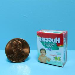 Dollhouse Miniature Replica Box of Huggies Diapers for Baby