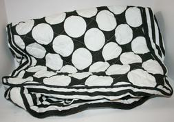 Bacati Dots/Pin Stripes Black and White Quilted Changing Pad
