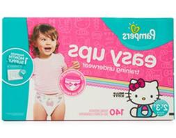 Pampers Easy Ups Training Underwear - 140 Count - Girls 2T-3