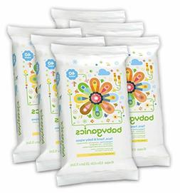 Babyganics Face, Hand Baby Wipes, Fragrance Free, 240 Count