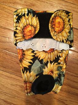 Female dog diaper-panties-QUILTED-Washable- AUTUMN SUNFLOWER