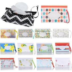 Flip Cover Wet Wipes Bag Cosmetic Pouch Tissue Box Stroller